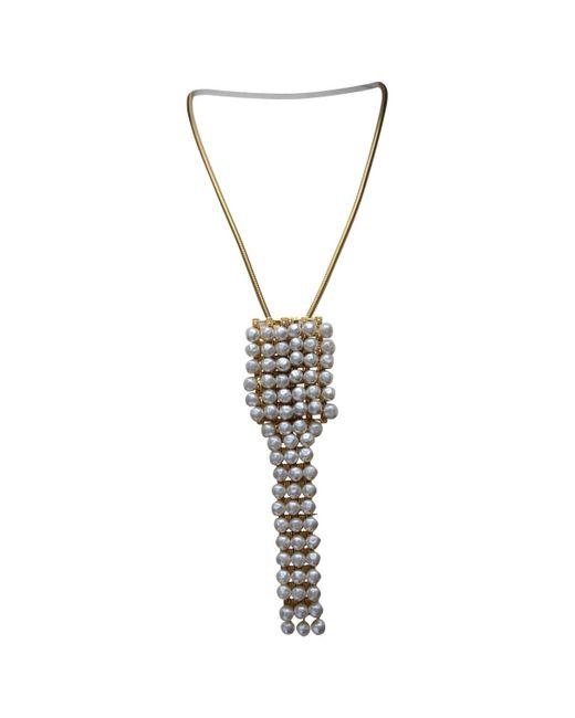 Dior - Metallic Vintage Other Metal Necklace - Lyst