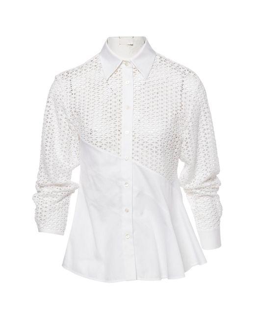 Sonia Rykiel - White Cotton Top - Lyst