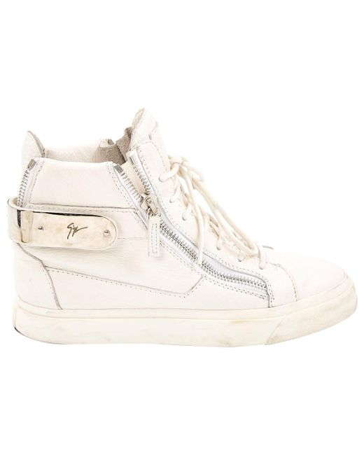 Giuseppe Zanotti - White Leather Trainers for Men - Lyst