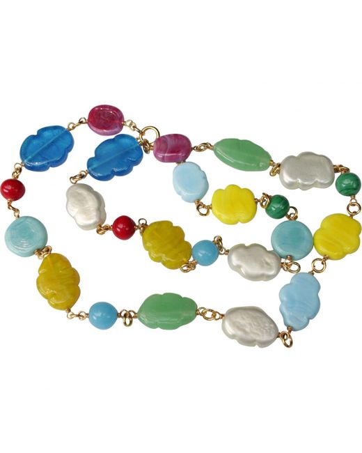 Chanel - Blue Vintage Other Other Necklace - Lyst