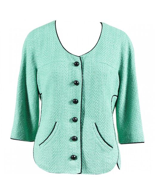Chanel | Green Pre-owned Tweed Short Vest | Lyst