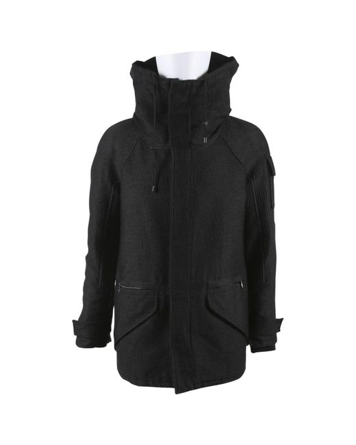 Balmain - Black Wool Coat for Men - Lyst