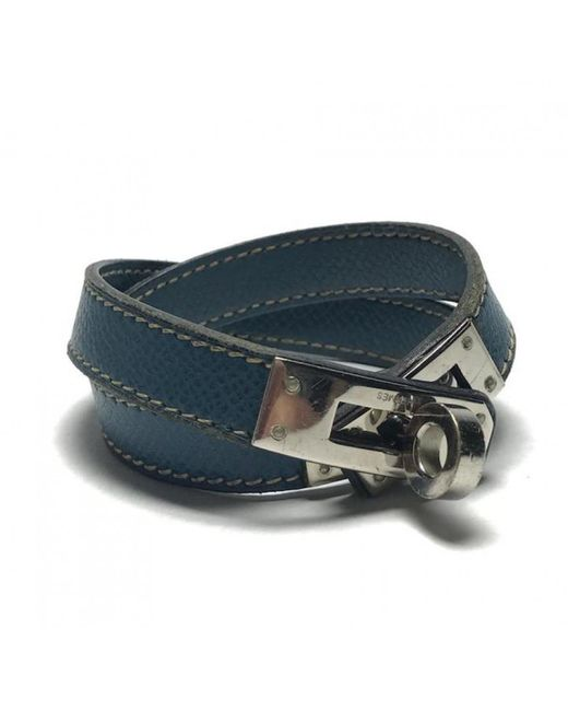 Hermès   Blue Pre-owned Kelly Double Tour Leather Bracelet   Lyst
