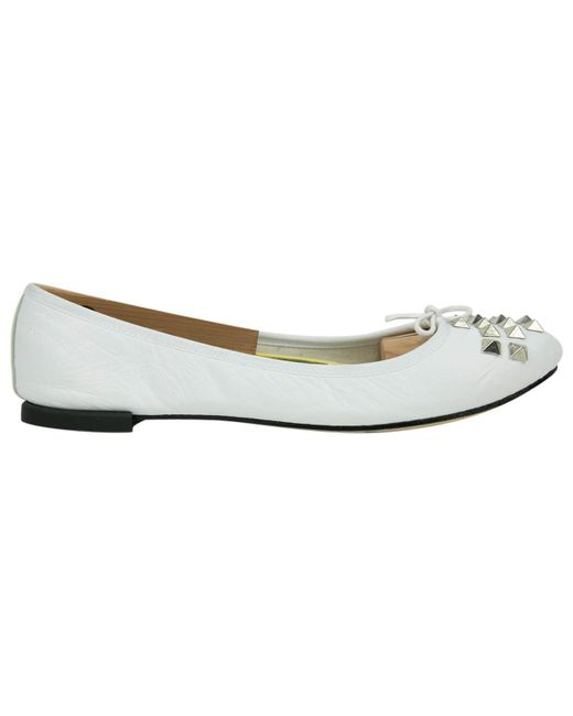 da6331b0de71 Repetto White Leather Flats in White - Lyst