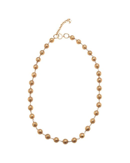 Chanel - Metallic Pre-owned Goldtone Beads - Lyst