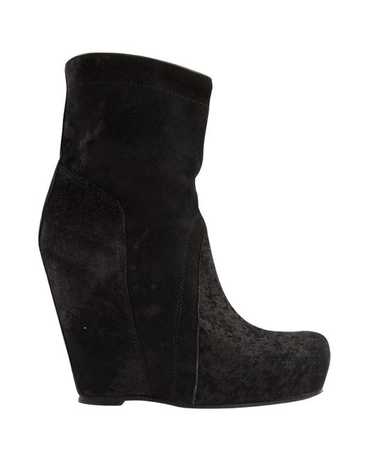 Rick Owens - Pre-owned Black Suede Boots - Lyst