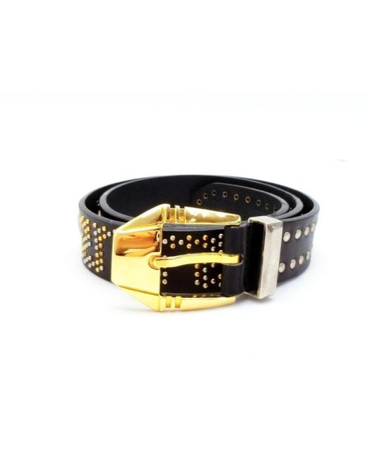 Versace Black Leather Belts