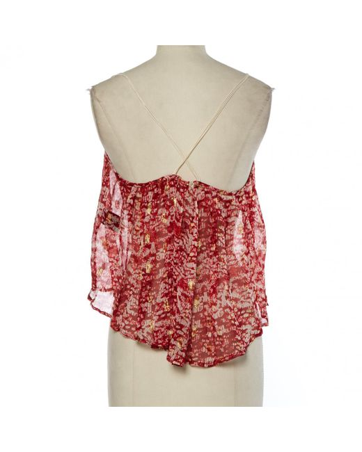 1065649c45abe ... Étoile Isabel Marant - Red Silk Top - Lyst ...
