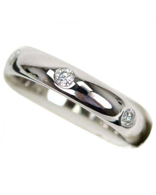 Cartier - Metallic White Gold Ring - Lyst