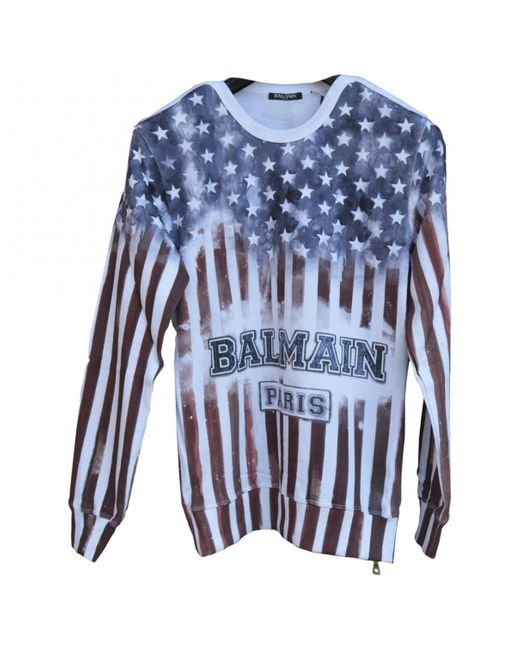 Balmain - White Cotton Knitwear & Sweatshirt for Men - Lyst
