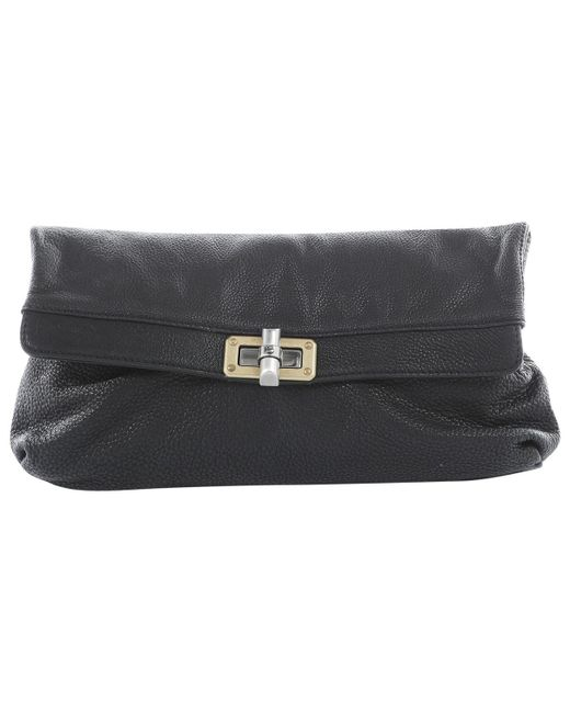 Lanvin - Pre-owned Black Leather Clutch Bags - Lyst