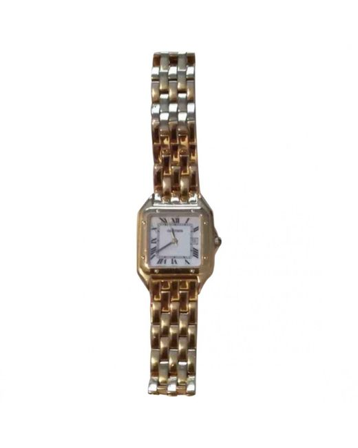 Cartier - Metallic Pre-owned Panthère Yellow Gold Watch for Men - Lyst