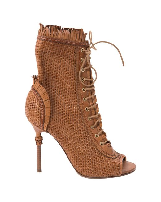 Sergio Rossi - Brown Leather Heels - Lyst