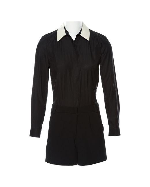 Maje - Black Viscose Jumpsuits - Lyst