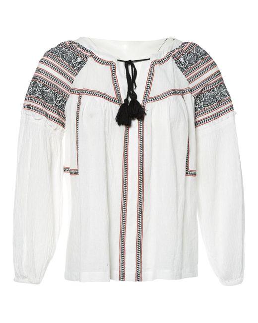 Maje - White Cotton Top - Lyst