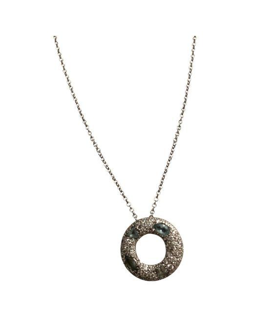 Pomellato - Metallic Silver White Gold Necklace - Lyst