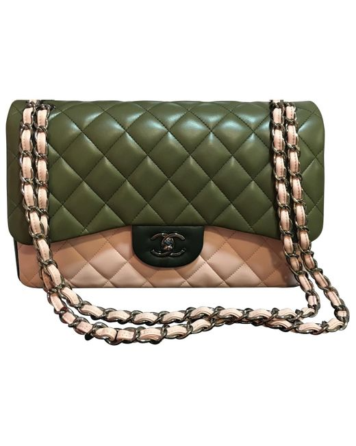 Chanel - Green Other Leather Handbag - Lyst