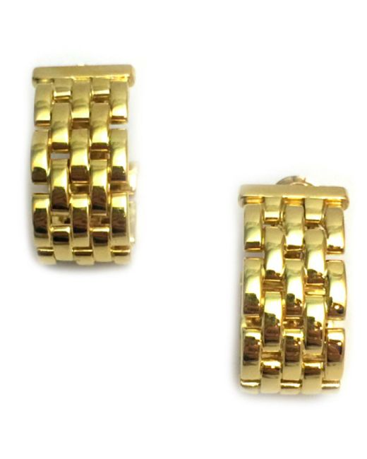 Cartier - Metallic Pre-owned Maillon Panthère Other Yellow Gold Earrings - Lyst