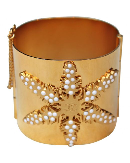 Chanel - Metallic Pre-owned Vintage Gold Metal Bracelets - Lyst