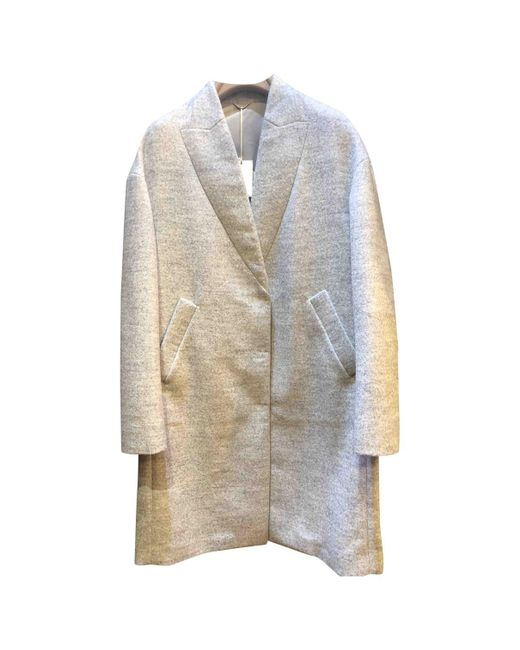 Brunello Cucinelli - Gray Grey Wool Coat - Lyst