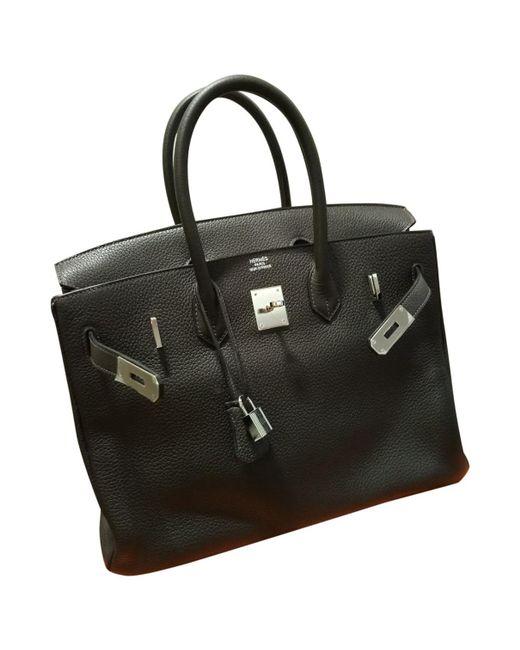 Hermès - Brown Pre-owned Birkin 35 Leather Handbag - Lyst