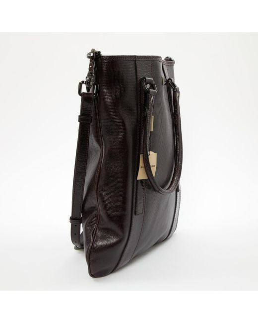 10d4b3d616cd ... Burberry - Black Leather Bag for Men - Lyst ...