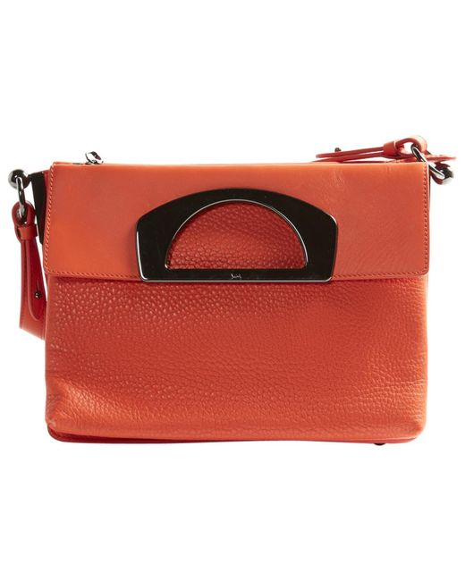 Christian Louboutin | Orange Pre-owned Leather Handbag | Lyst