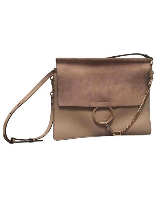 Chloé - Brown Faye Leather Handbag - Lyst