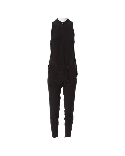 Barbara Bui - Black Silk Jumpsuit - Lyst