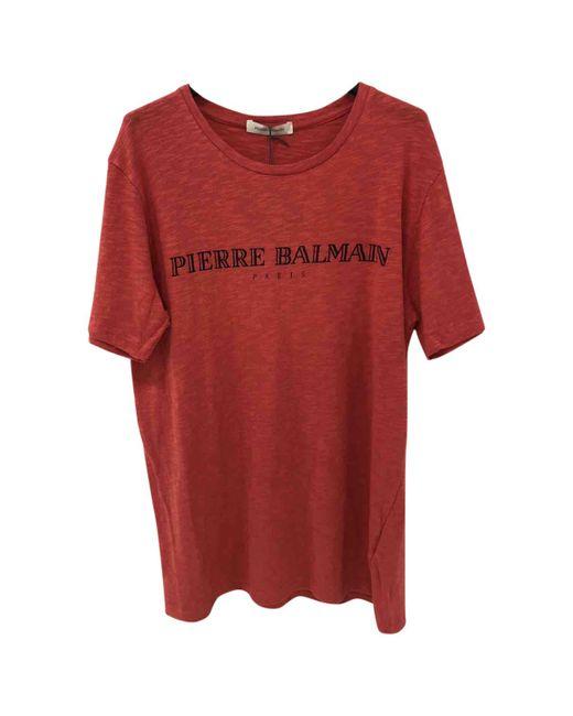 Balmain | Red Cotton T-shirt for Men | Lyst