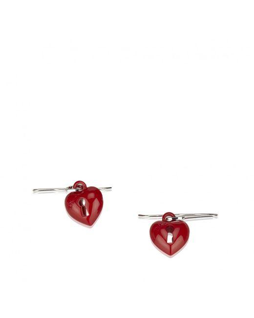 Dior - Red Burgundy Plastic Earrings - Lyst
