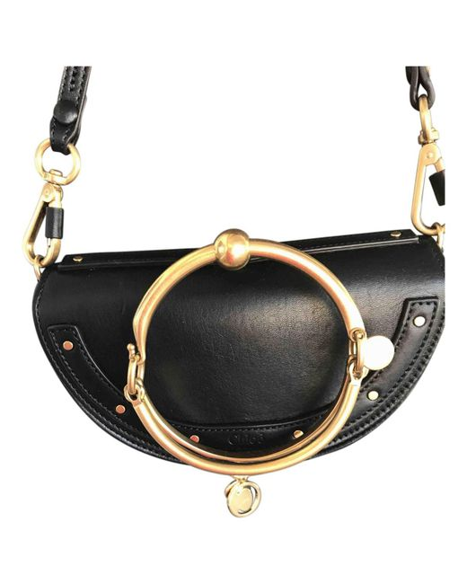 Chloé | Black Pre-owned Leather Clutch Bag | Lyst