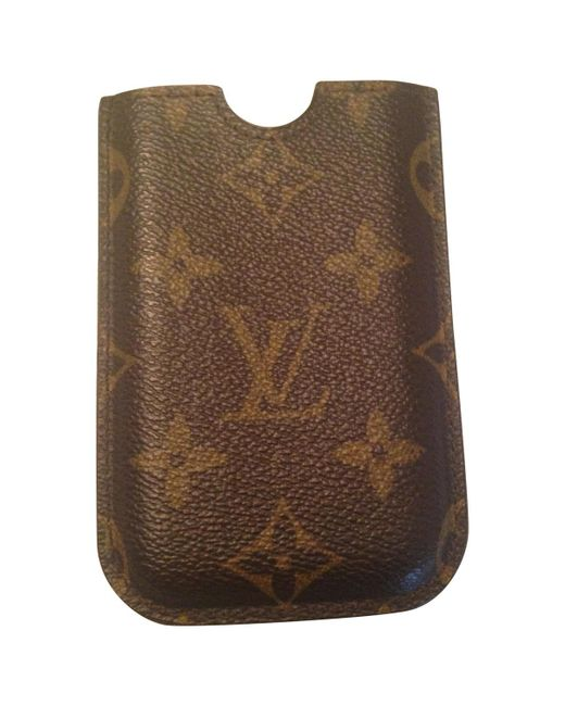 Louis Vuitton - Brown Pre-owned Cloth Purse - Lyst