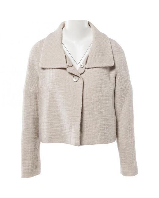 Chloé - Natural Pre-owned Wool Coat - Lyst
