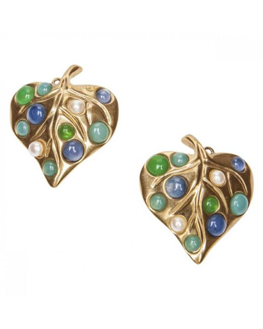 Givenchy - Metallic Vintage Gold Metal Earrings - Lyst