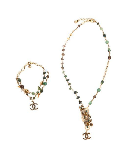 Chanel - Green Metal Jewellery Sets - Lyst