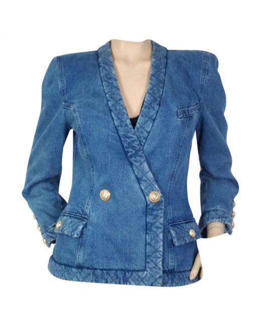 Balmain - Blue Denim - Jeans Jacket - Lyst