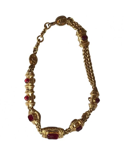 Chanel - Red Pre-owned Necklace - Lyst