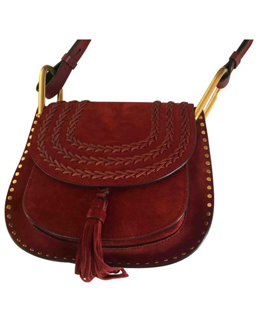 Chloé - Red Pre-owned Hudson Crossbody Bag - Lyst