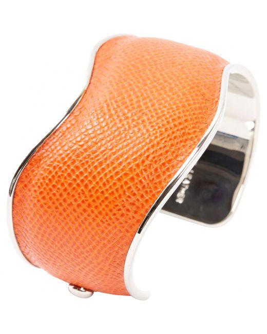 Tod's - Orange Leather Bracelets - Lyst