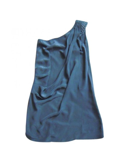 Maje - Pre-owned Black Silk Dress - Lyst
