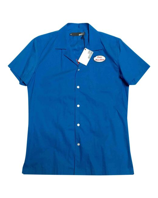Moschino - Blue Pre-owned Shirt for Men - Lyst