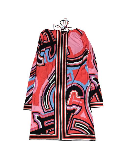 Emilio Pucci - Red Pre-owned Mid-length Dress - Lyst