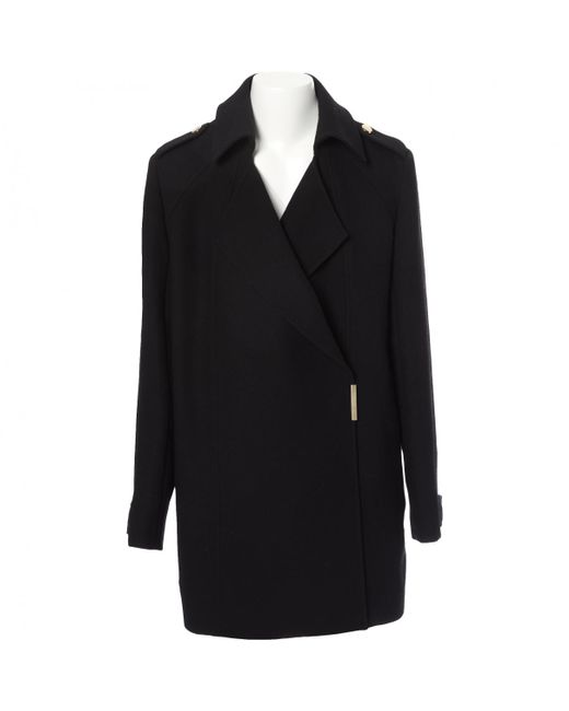 Victoria Beckham - Black Pre-owned Wool Coat - Lyst