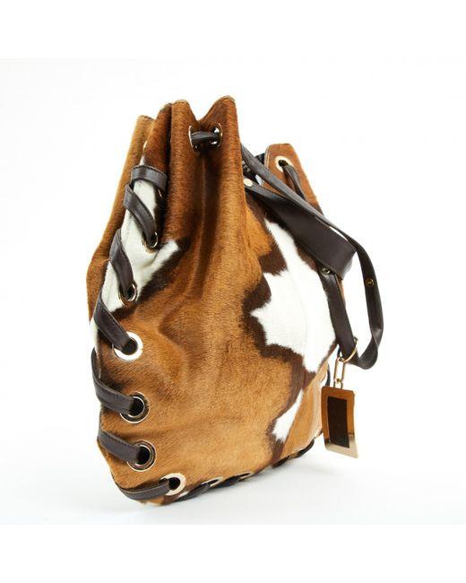 Roger Vivier Brown Pre Owned Multicolour Pony Style Calfskin Handbags Lyst