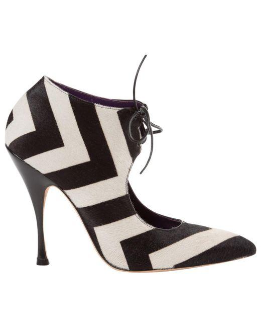 Manolo Blahnik | Black Pre-owned Pony-style Calfskin Heels | Lyst