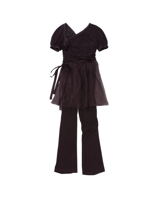 Chanel - Pre-owned Vintage Purple Silk Jumpsuits - Lyst