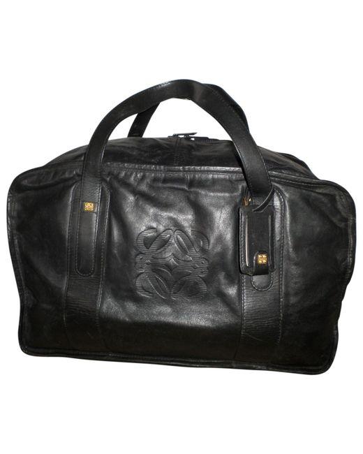 Loewe - Black Leather 48h Bag for Men - Lyst