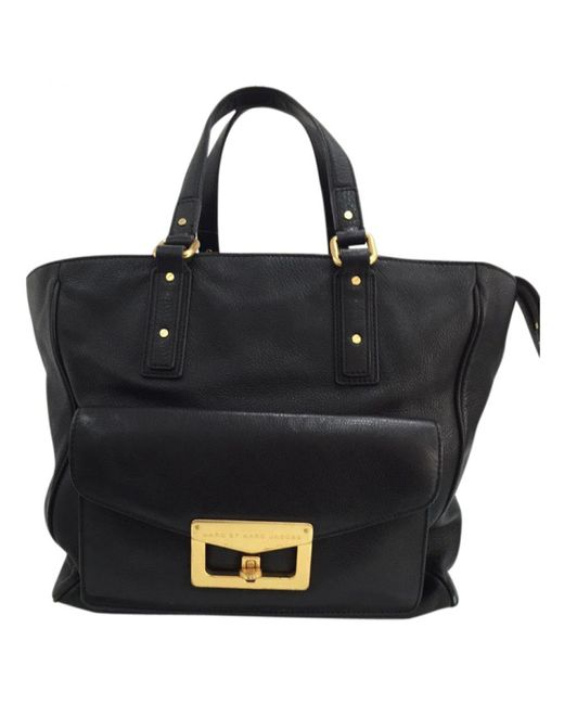 Marc By Marc Jacobs - Pre-owned 100% Authentic Bianca Hayley Black Leather Tote Handbag - Lyst