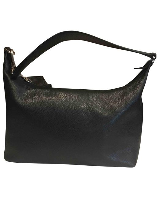 Longchamp - Black Pre-owned Leather Handbag - Lyst